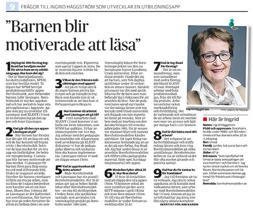 Intervju med Ingrid Häggstrom